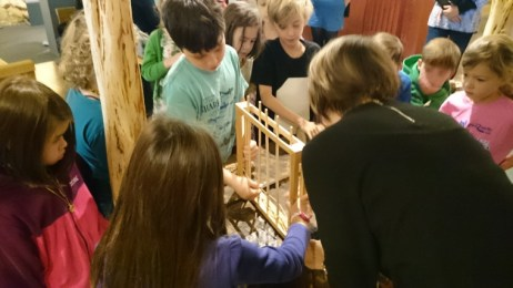 Image of group of children-doing-willow-weaving