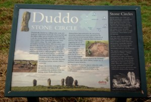 Image of information board for Duddo stone circle
