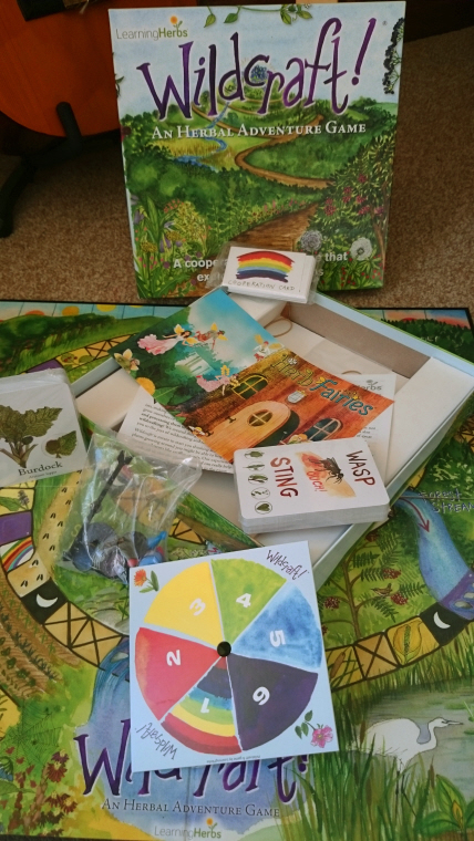 wildcraft-board game-display-showing-cards-and-board