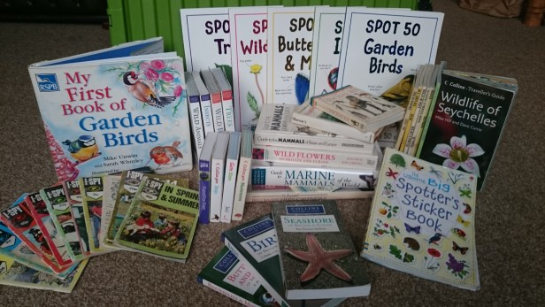 Selection of nature guides in display