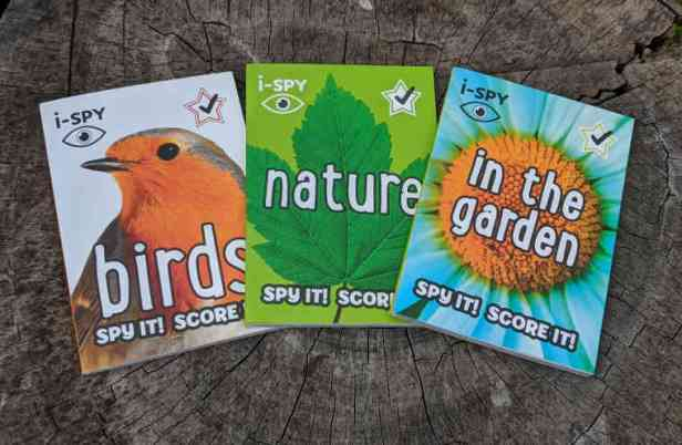 Giveaway prize books ispy nature, birds and in the garden