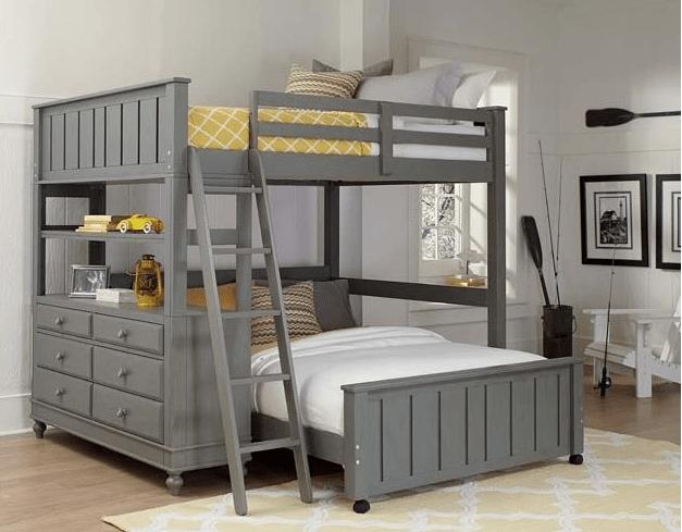 Beach House Twin Size Student Loft In Grey Kids