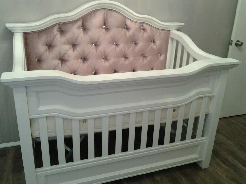 Millbury Custom Tufted Convertible Crib Kids Furniture