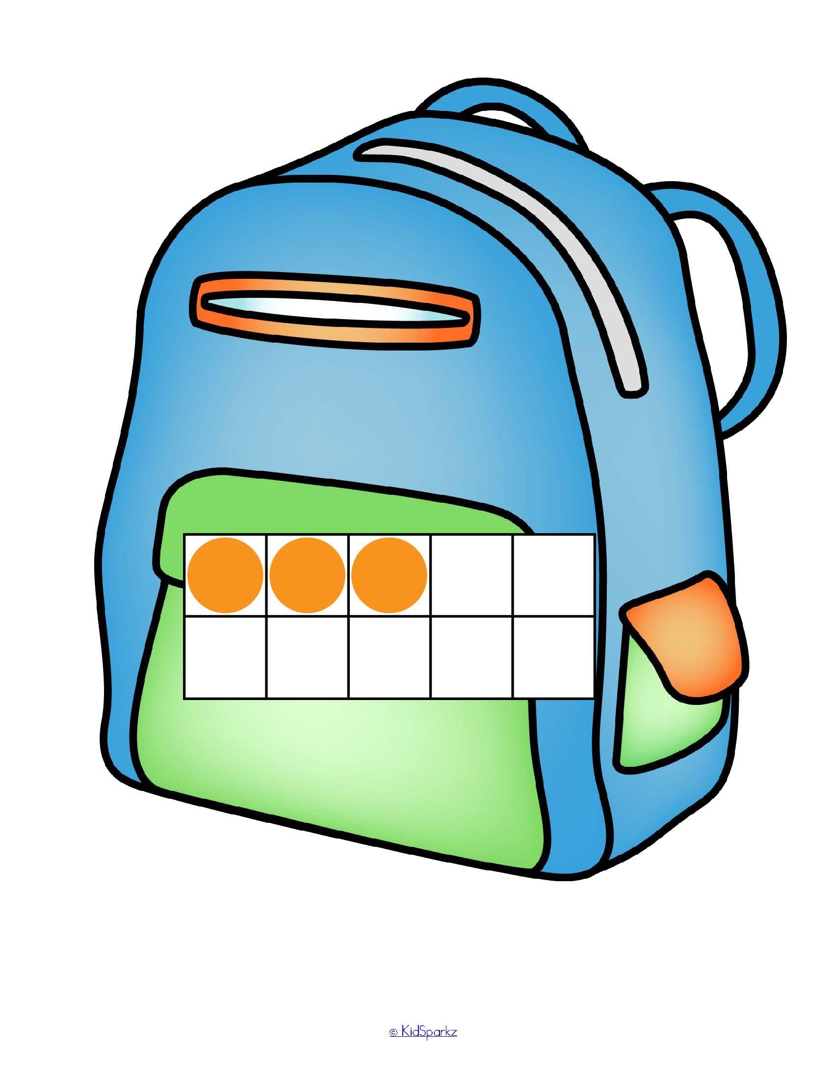Backpacks Amp Number Sense Matching 10 Frames Tally Marks