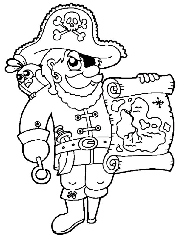awesome pirate  treasure map coloring page  kids play