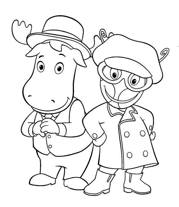 tyrone and uniqua from the backyardigans coloring page