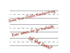 outside of lines handwriting