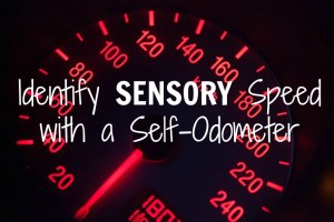Identify Your Sensory Speed With a Self-Odometer