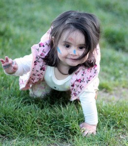crawling girl