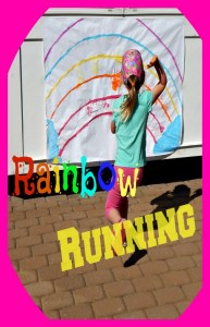 Add paint, exercise, and sensory experiences to get this  amazing kids activity called rainbow running! Sneak some academics in with the colors for lots of fun!