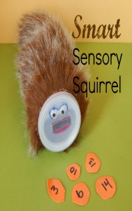 Improve your child's sensory experience along with academic learning concepts such as shapes, letters, or numbers with this smart sensory squirrel game. Your kids will love it!
