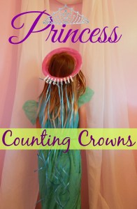 Make princess dress up more educational for your child by having adding this fine motor counting activity to the crown!
