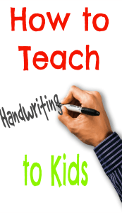 Learn how to teach handwriting to kids so they can learn tips for writing legibly.