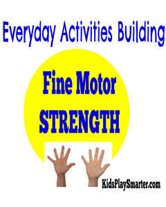 Discover 30 fine motor strengthening activities for kids that are found in everyday actions. Perfect for improving hand strength for kids of all ages. Check it out here!