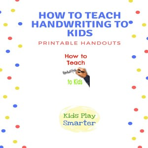 Printable handwriting handouts screen shot of cover