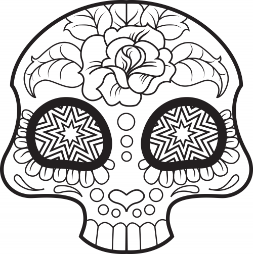 Sugar Skull Coloring Page 6