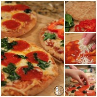 Pita Bread Crust Personal Pizza