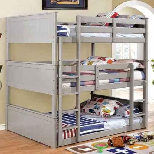 full triple decker bunk beds- kidsroom.vip