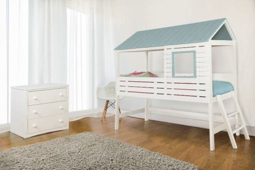 Twin Size House Bed - twin bed loft bed- kidsroom.vip