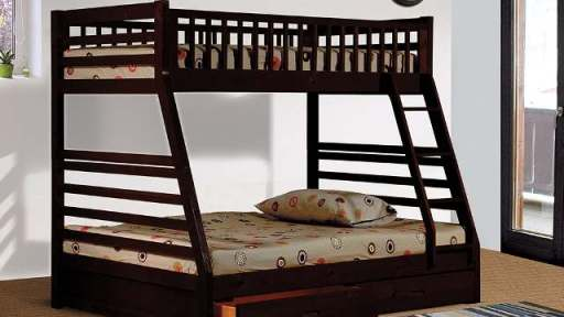 """""""Jubilant Jacob"""" Twin over Full Angled Bunk Bed with Trundle – 4 Colors!"""