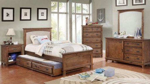 """Little Treasure"" Bedroom Set w/ Padded Headboard & Trundle"