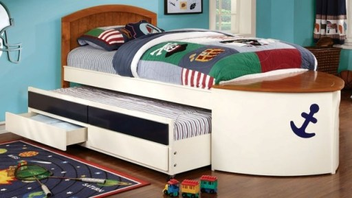 """Magic Sail"" Twin Bed w/Storage"