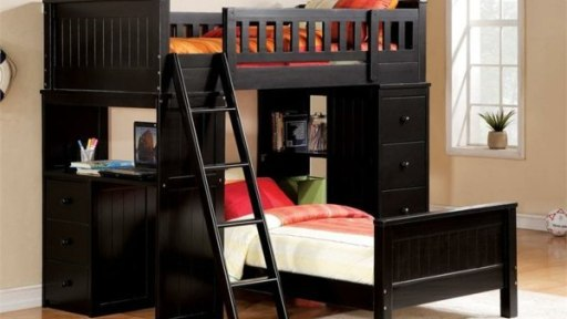 """The Raven"" Black Loft & Twin Bed Collection"
