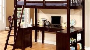 """The Skylar"" Twin Loft Bed Workstation – 2  Colors"