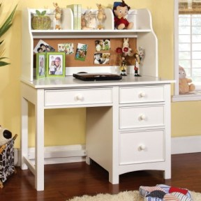 Twin Over Full White Bunk Bed Collection-desk- kidsroom.vip