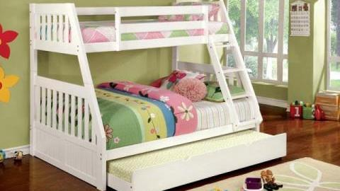 """""""Victoria Secret"""" Twin Full White Bunk Bed Collection"""