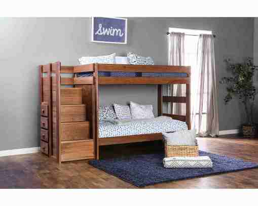 twin over Twin Bunk Bed with Staircase Storage - kidsroom.vip