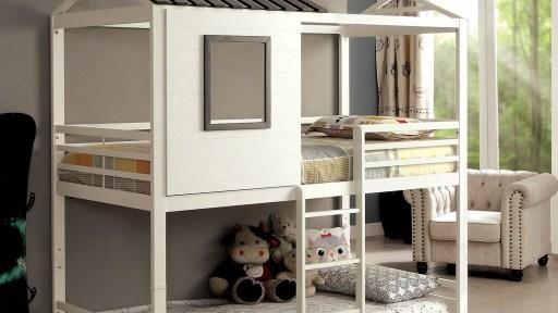 """Dala Horse"" Swedish Twin over Twin House Bunk Bed"