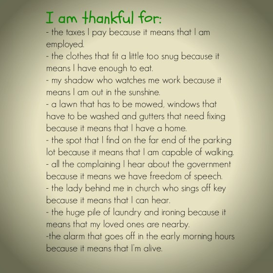 I am thankful quotes