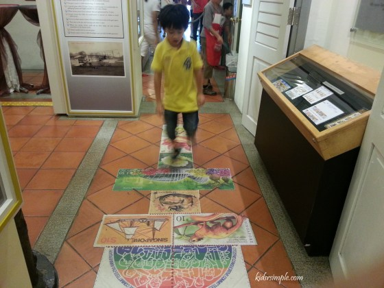 Hopscotch made of stamps!