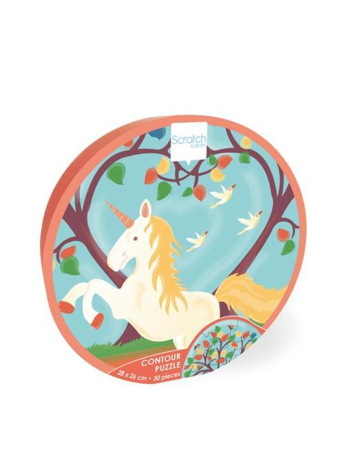 scratch unicorn puzzel hartje