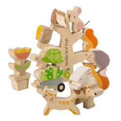 houten dieren stapelboom duurzaam