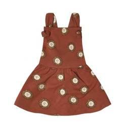 jurk met zon roestrood