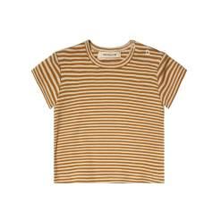 gestreept t-shirt geel wit