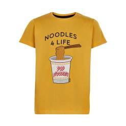 geel t-shirt noedels