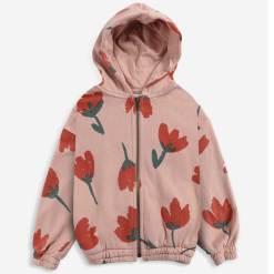 Vest meisjes bloemen roze