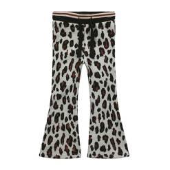 Flared broek meisjes luipaardprint
