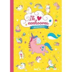 vriendenboek invulboek unicorns