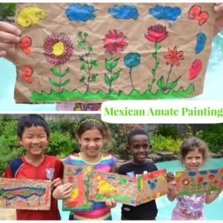 Mexican Folkart Amate- Kid World Citizen