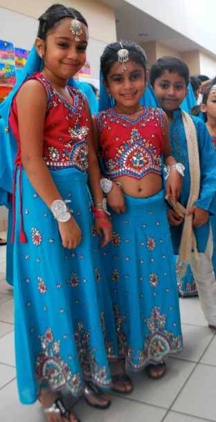 Girls from India getting ready to dance- Kid World Citizen