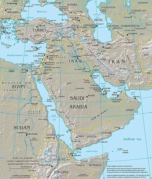 Middle East Map- Kid World Citizen