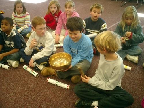 Kids and Tibet Singing Bowl- Kid World Citizen