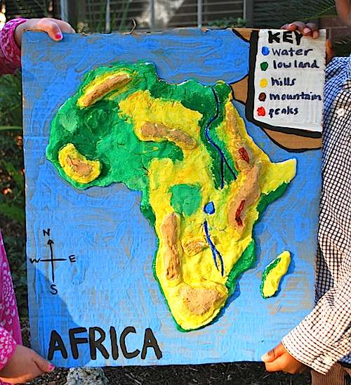 Map Of Africa 3d.3d Salt Dough Maps For Kids
