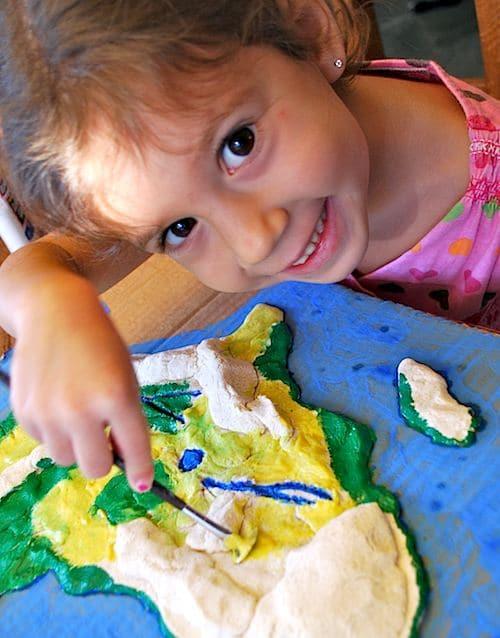 3D Salt Dough Maps for Kids Making Salt Dough State Maps on 3d salt-dough maps, social studies maps, salt-dough landforms maps,