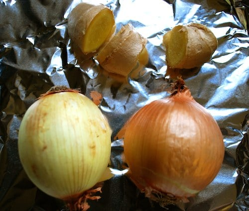 Roast Onion and Ginger for Pho- Kid World Citizen