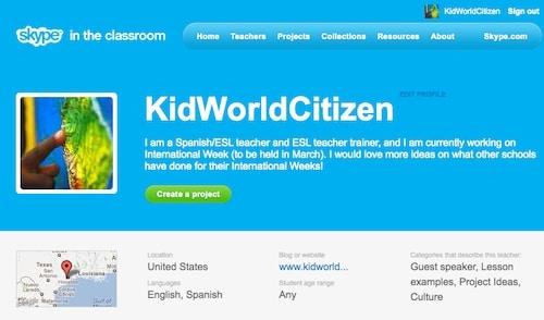 Skype in the Classroom Profile- Kid World Citizen